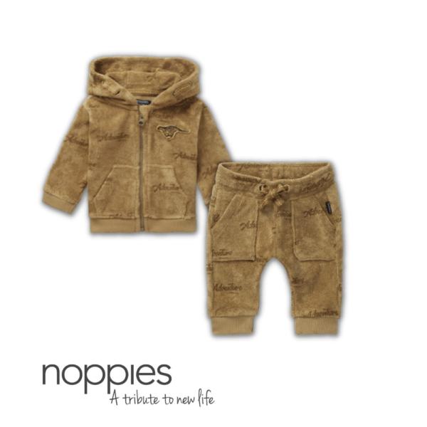 Set bebe bumbac organic 2 piese Tampa: cardigan si pantaloni